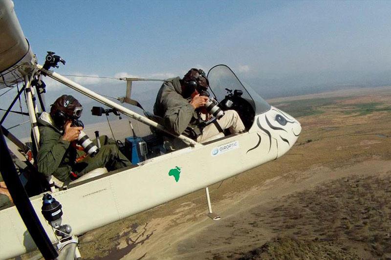 Prise de vue aérienne lors d'un tournage